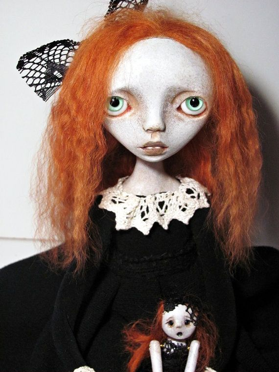 Handmade Collectible Unique OOAK Art doll Clay by Anastasiasdolls