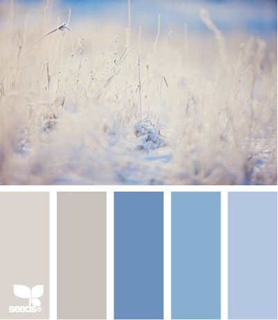 11 beautiful paint palettes inspired by winter | BabyCenter Blog I Iike the 2 neutrals -am