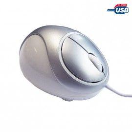 Souris Optique Filaire Heden Sanse Blanche Massante 3 Boutons 1000DPI USB Pc Mac