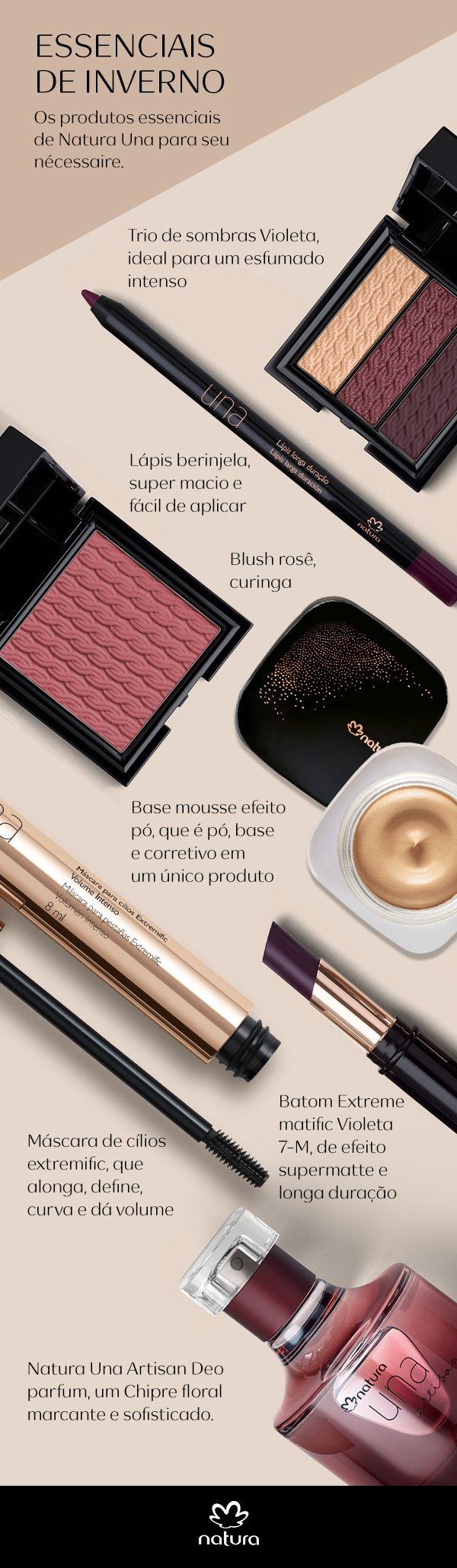 Essenciais de inverno de maquiagem e perfumaria