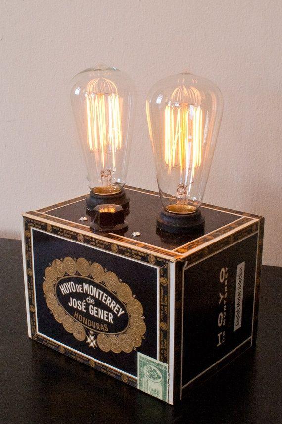 Cigar Box Crafts | Cigar Box Lamp | Crafts