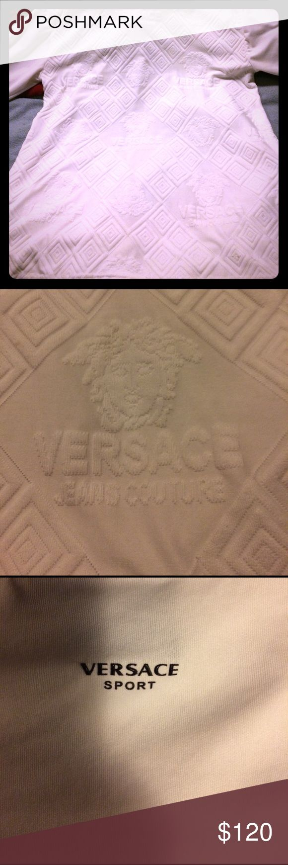 Versace shirt A Nice all white Versace shirt. XXL Versace Shirts Tees - Long Sleeve