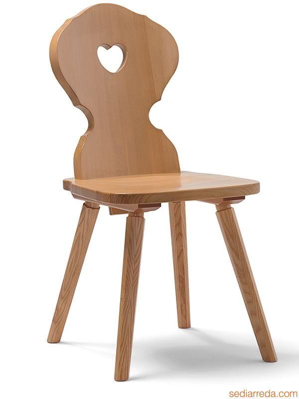 SP4 | Sedia rustica in legno