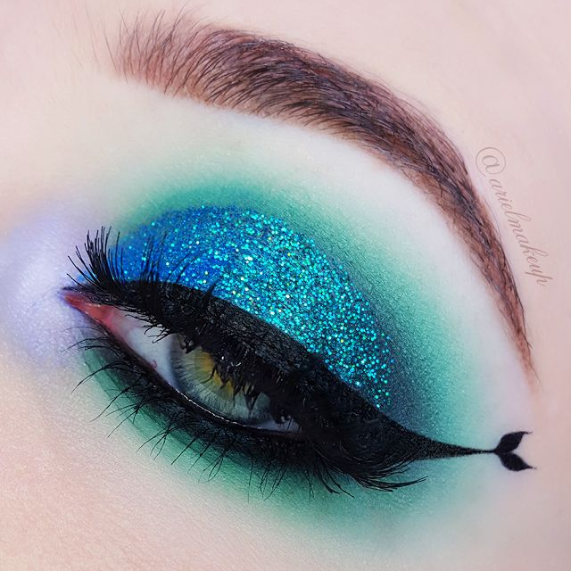 Ariel Make Up ~ Make Up & Beauty with a Princess Touch: ♕ The Mermaid Series ~ Mermaid Tail Eyeliner ♕