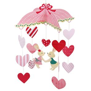 Mobile: Heart and Rabbit - Toys - Paper Craft - Canon CREATIVE PARK from http://cp.c-ij.com/