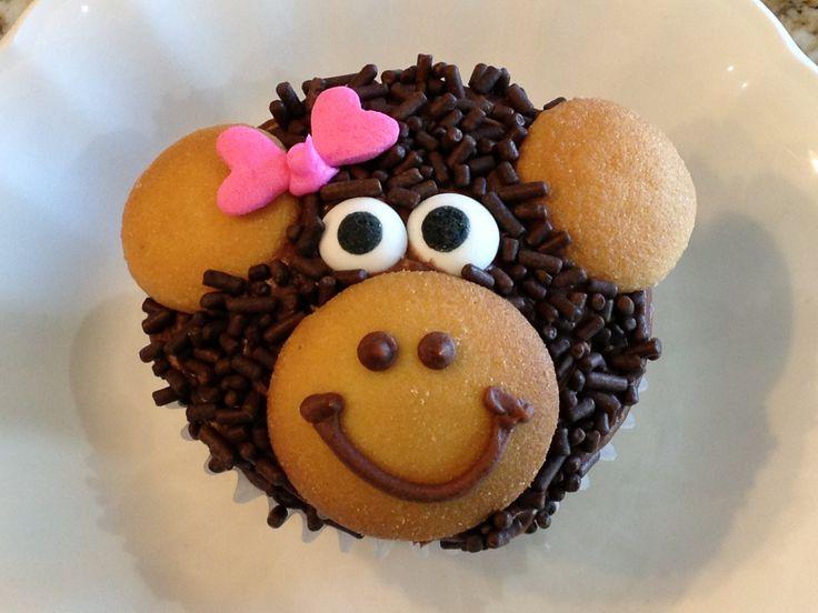 Monkey cupcakes :) For Charlie's birthday? I think so!