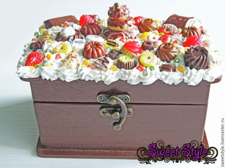 Купить Шкатулка украшенная сладостями. - шкатулка, шкатулка для украшений, купить подарок, купить