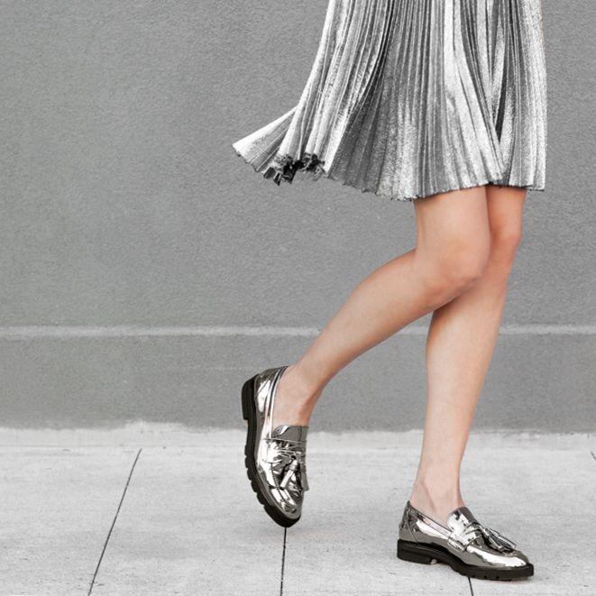 The MANILA Loafer in Iron Grey Specchio.
