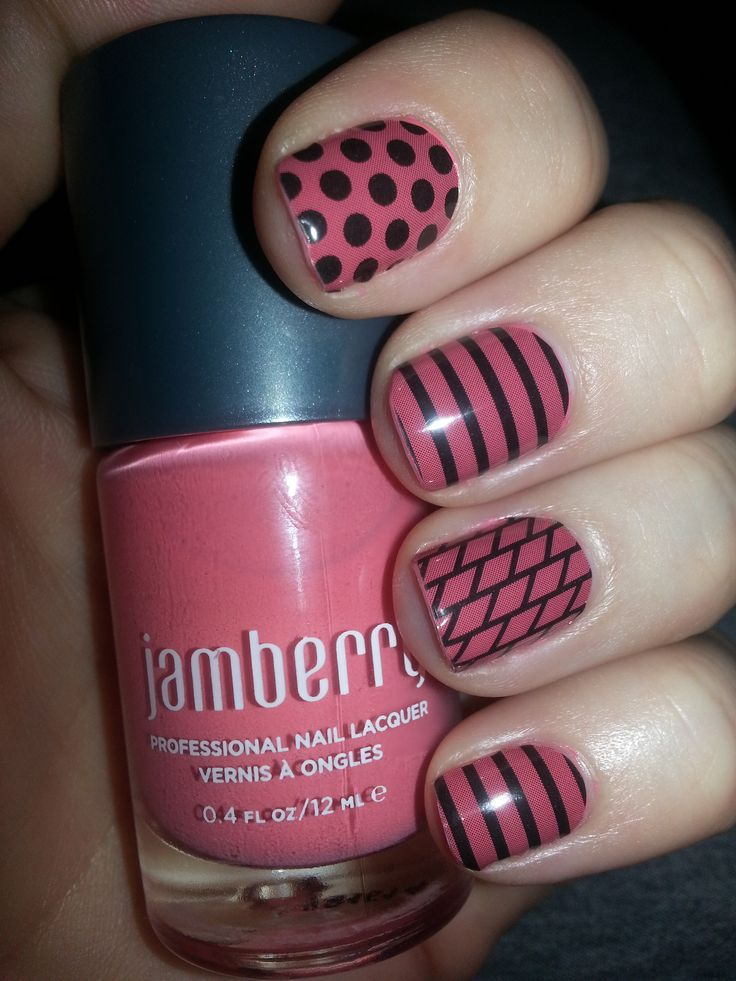 Layer your Jamberry Wraps over your lacquer: Blush Lacquer under the Tinted Classics.