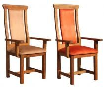 Carver's Chair / Captain's Chair with Upholstered Seat and Back