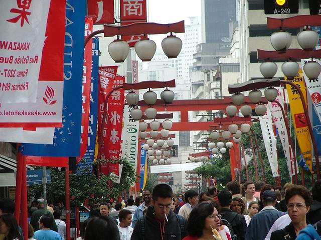 Our oriental town in Sao Paulo. Visit the street market on Sundays. Subway is the best choice to get there (Liberdade Station).