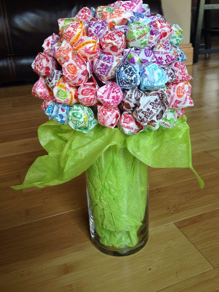 Sucker bouquets for graduation open house