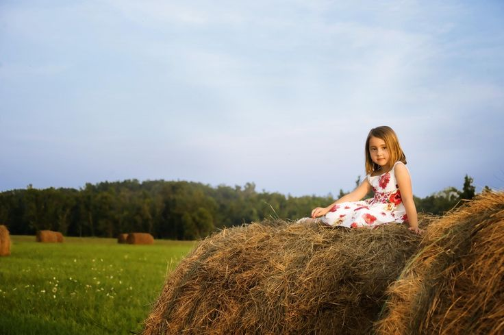 Picture on hay bale