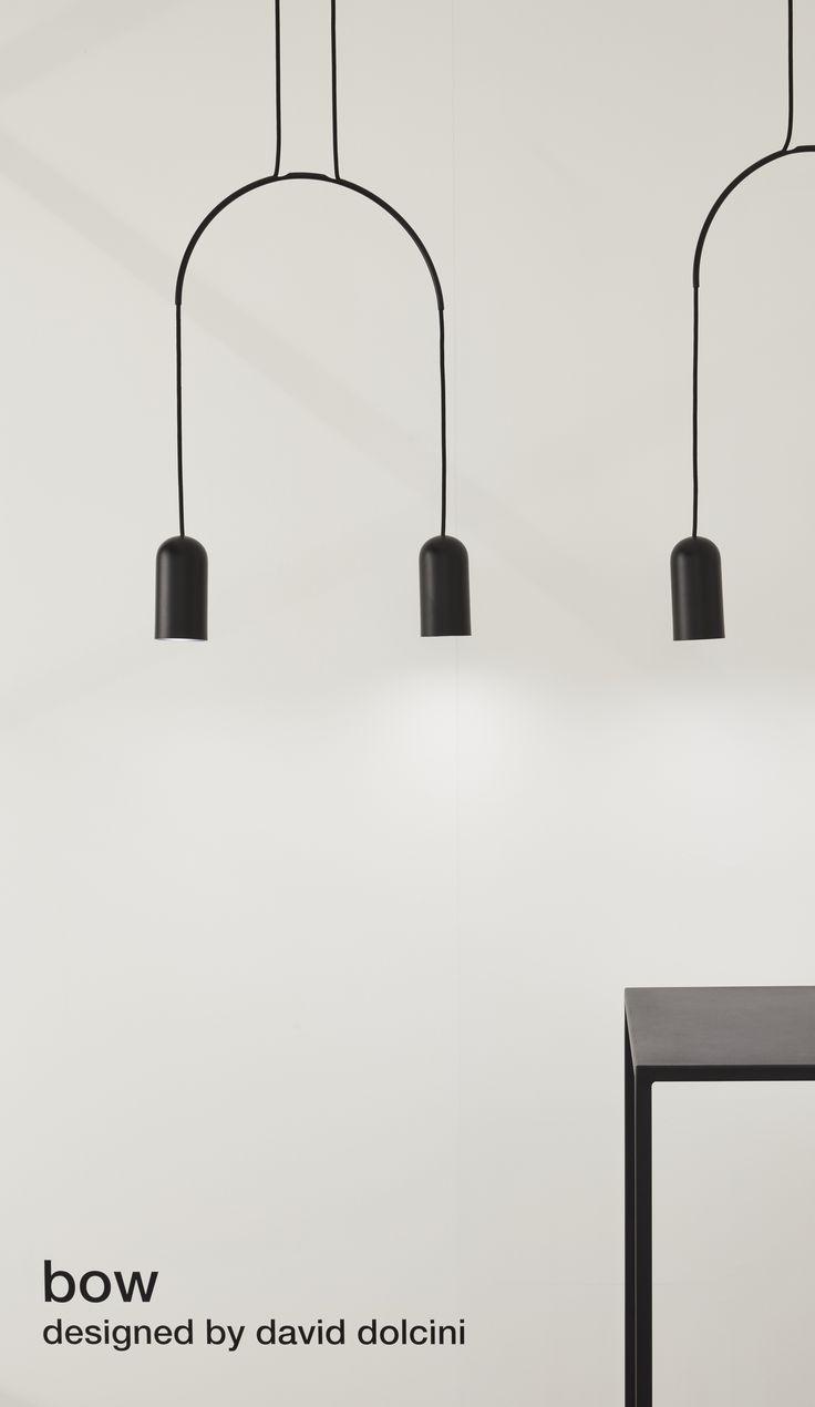 BOW suspension | lamp collection designed by david dolcini STUDIO for tossB #tossB #lamp #lighting #totalblack #metal #minimal #design #daviddolcini #daviddolcinistudio