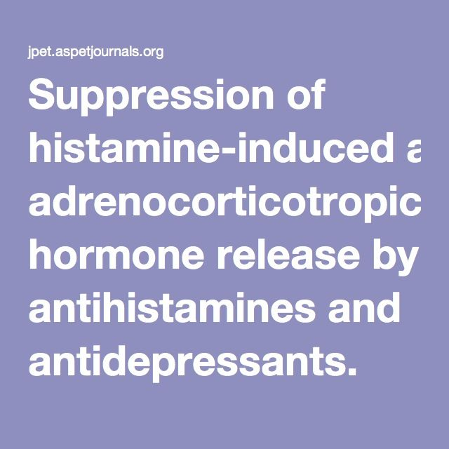 Suppression of histamine-induced adrenocorticotropic hormone release by antihistamines and antidepressants.