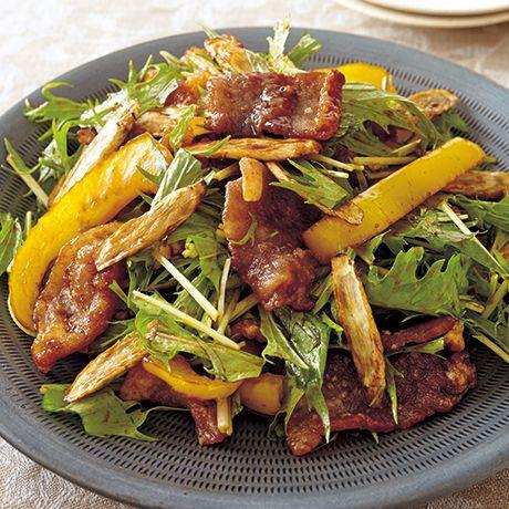 揚げ豚のおかずサラダ | 井原裕子さんの揚げものの料理レシピ | プロの簡単料理レシピはレタスクラブニュース
