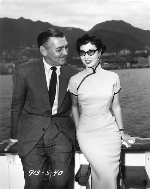 Clark Gable in Hong Kong.  Li Li-hwa, top glamour girl of the Chinese movie world~Associated Press December 3, 1954