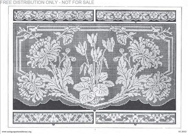 Antique Crochet Patterns : Dantel Crochet, Crochet Windows, Filet Crochet, Crochet Filet