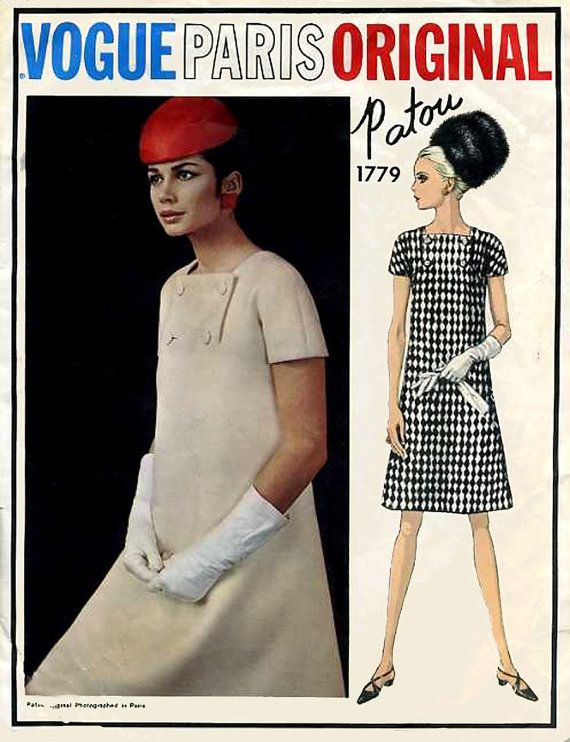 Sz 14 60s Vogue Paris Original Pattern 1779 A Line Summer ...