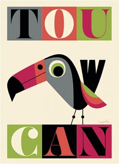 Toucan poster - Ingela P Arrhenius http://www.ingelaparrhenius.com/archives/two-new-posters-2