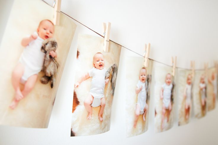 Watching baby grow is exciting.  Using a stuffed toy in monthly pictures is a good way of measuring baby's growth.