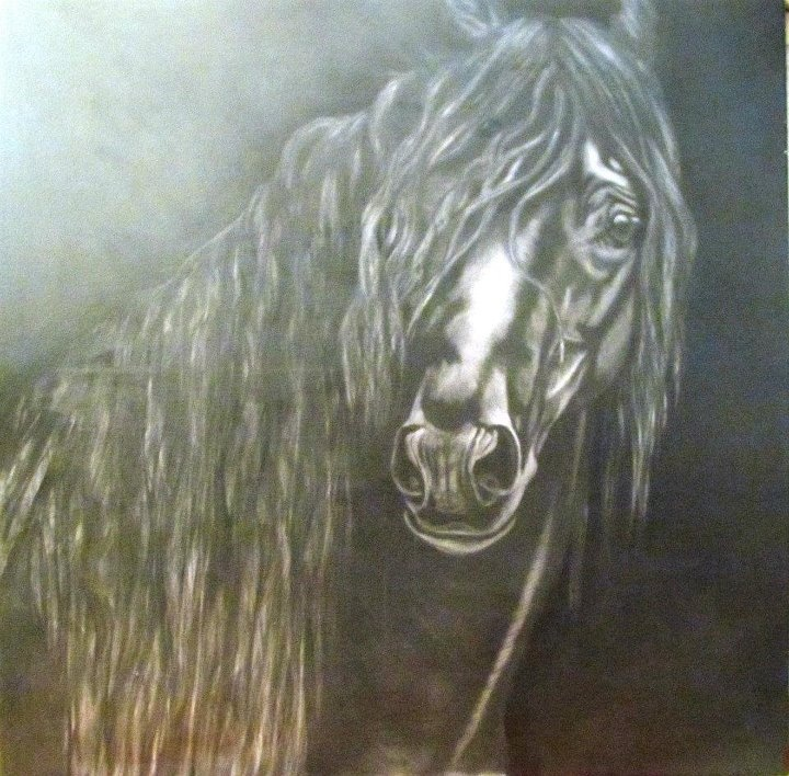 Beautiful charcoal art.