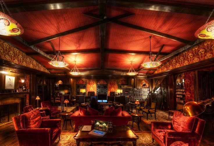 Hans Zimmer's personal lair ~ If only I had a library that looked as sumptuous as this room!