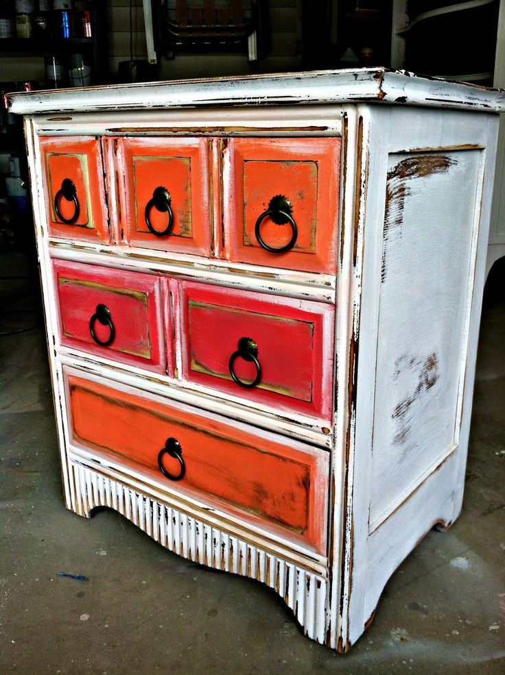 Best SOME OF MY WORK Images On Pinterest Distressed Furniture - Trendy painted furniture