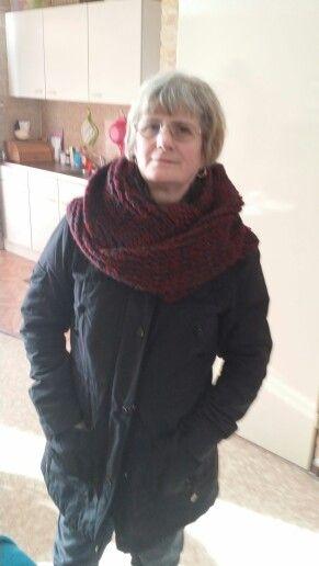 Zelfgemaakte sjaal voor ma
