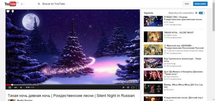 Тихая ночь дивная ночь   Рождественские песни   Silent Night in Russian - YouTube