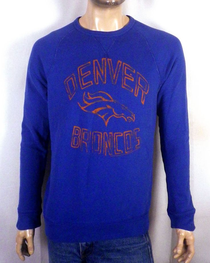 NWOT Junk Food Denver Broncos Sweatshirt NFL raglan triangle seam SZ M