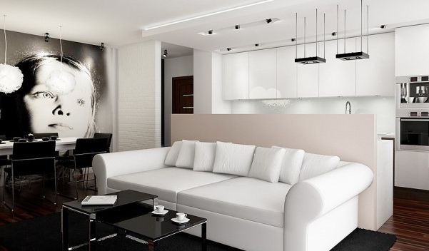 interior design for living room and kitchen - Small houses, Living room kitchen and oom kitchen on Pinterest