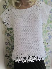 Womens Sideways Sassy Top -- This beautiful lacy top looks wonderful layered over another top.