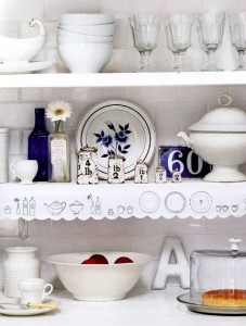 Shelf edging from 'The Hand Stitched Home' by Caroline Zoob