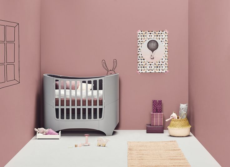 The Leander Baby Cot Grey