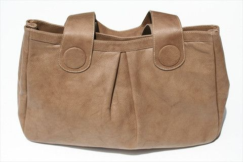 button detail bag - earth