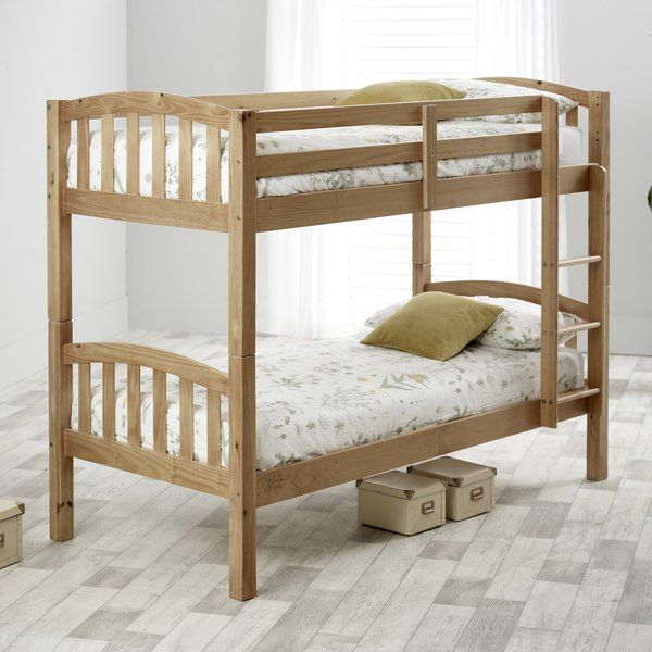Aaliyah Single Bunk Bed In 2020 Single Bunk Bed Bunk Beds Wooden Bunk Beds