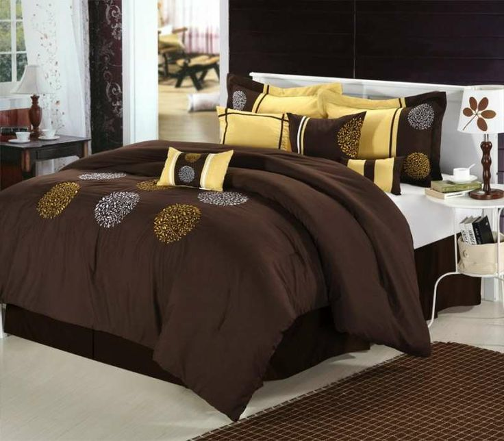 Willow Brown 8 Piece Comforter Set Fall Colors