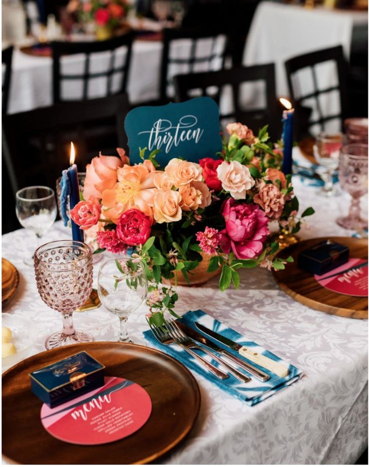wedding decoration ideas south africa%0A Kristin and Tom u    s Toronto wedding was all the feels  Bold bright colors  with dreamy taper
