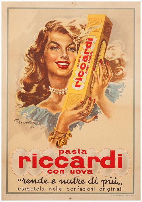 Pasta Riccardi Vintage Spaghetti, Pasta, Macaroni, Ad, Advertising