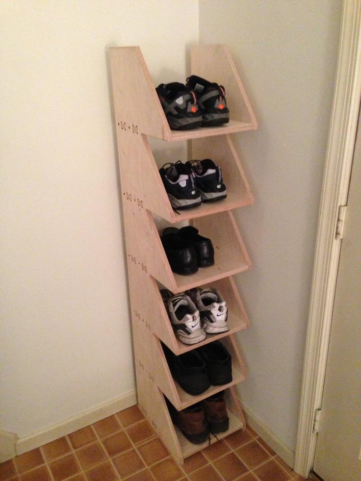 DIY shoe storage. NEED FOR PURSE STORAGE