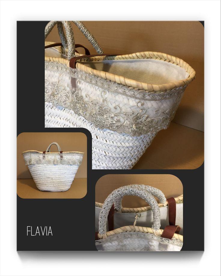 FLAVIA. Large bag in white. VENECIA Collection 2017. Cuqui Miluki
