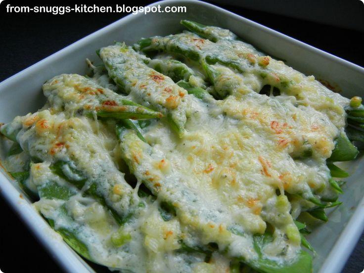 From-Snuggs-Kitchen - Essen aus Hessen und dem Rest der Welt: gratinierte Stangenbohnen nach Lafer
