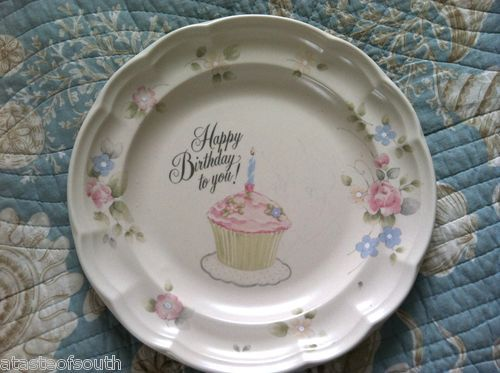 Pfaltzgraff Tea Rose Stoneware HAPPY BIRTHDAY to You ! Cake Plate RARE #Pfaltzgraff #tearose & 50 best Pfaltzgraff tea rose images on Pinterest | Tea roses ...