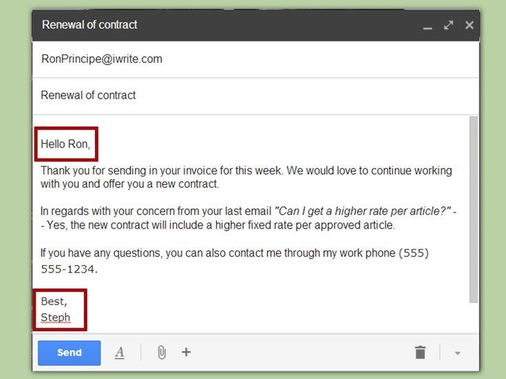 sample business emails