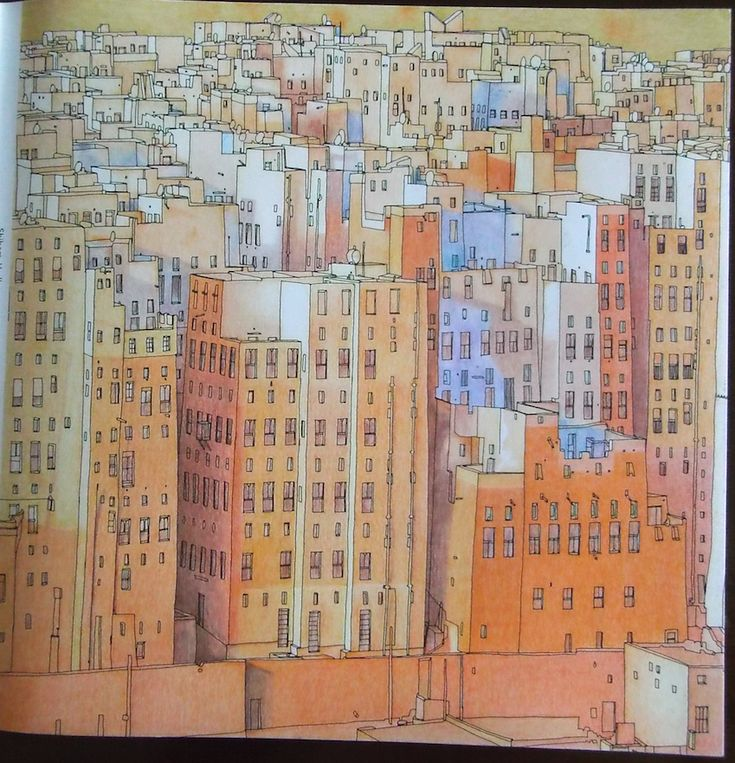 Fantastic Cities Pg7 Shibam Hadhramaut Yemen Stevemcdonald Fantasticcities Coloring BooksVintage