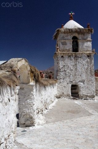 Adobe church, Altiplano, Chile