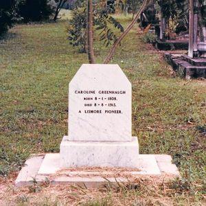 Mystery of aged pioneer Caroline Greenhalgh