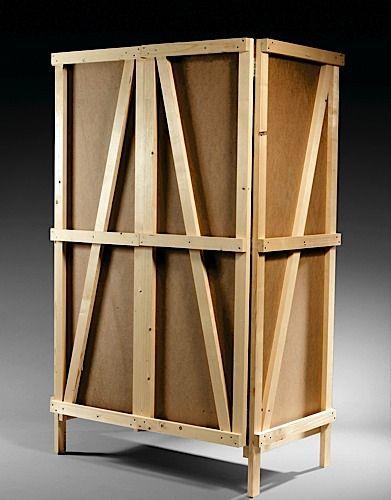 Enzo MARI (Né en 1932) Armoire T - création 1974 Pin naturel