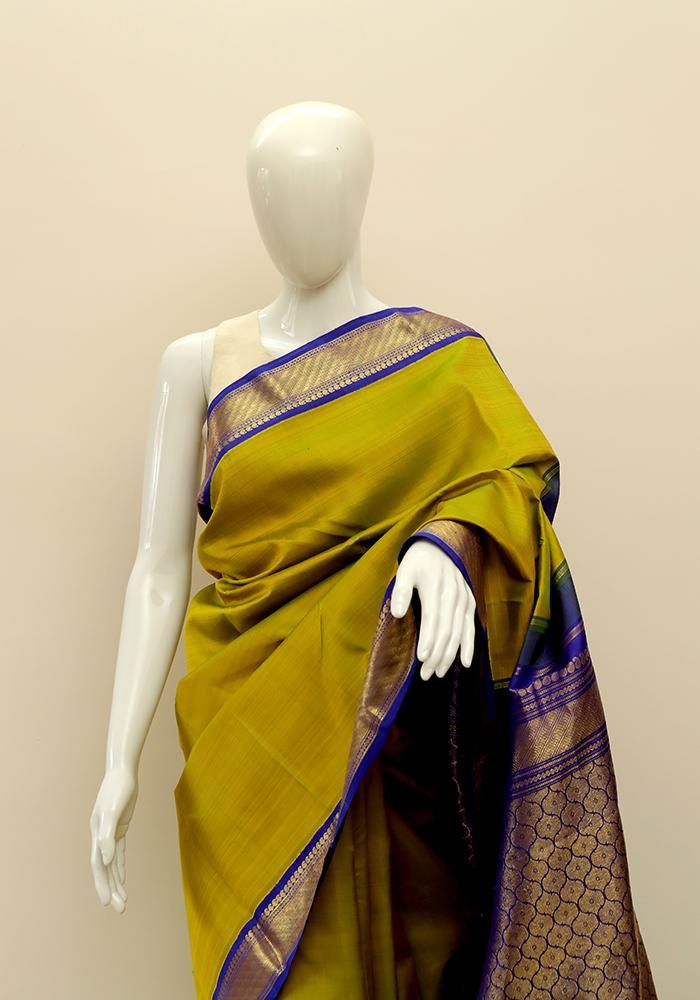 3cff2652502e8f Kanchipuram Silk Saree – Desically Ethnic | Sarees | Pinterest ...